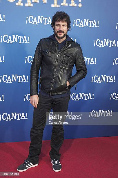 Spanish actor Daniel Grao attends 'Canta' premiere at Capitol cinema on December 18 2016 in Madrid Spain