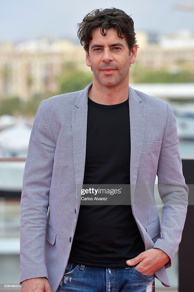 Spanish actor <a gi-track='captionPersonalityLinkClicked' href=/galleries/search?phrase=Eduardo+Noriega&family=editorial&specificpeople=790357 ng-click='$event.stopPropagation()'>Eduardo Noriega</a> attends 'Nuestros Amantes' photocall during the 19th Malaga Film Festival on April 30, 2016 in Malaga, Spain.