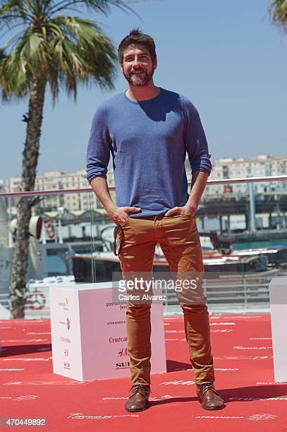 Spanish actor Felix Gomez attends 'Tiempo Sin Aire' photocall during the 18th Malaga Film Festival on April 20 2015 in Malaga Spain