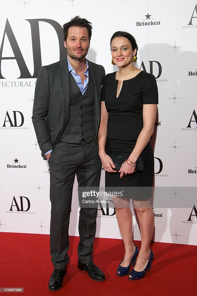 Spanish actor Fernando Andina (L) attends the AD Awards 2014 at the Santa Coloma Palace on February 27, 2014 in Madrid, Spain.