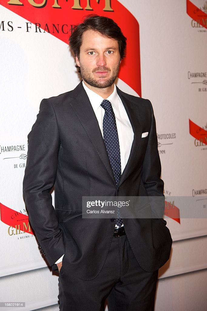 Spanish actor Fernando Andina attends the 'Maison Mumm' inauguration at the Santo Mauro Hotel on December 11, 2012 in Madrid, Spain.