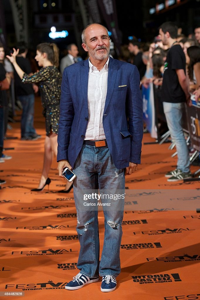 Spanish actor <a gi-track='captionPersonalityLinkClicked' href=/galleries/search?phrase=Fernando+Guillen+Cuervo&family=editorial&specificpeople=4221197 ng-click='$event.stopPropagation()'>Fernando Guillen Cuervo</a> attends 'Isabel' 3th season premiere at the Principal Theater during the FesTVal 2014 day 1 on September 1, 2014 in Vitoria-Gasteiz, Spain.