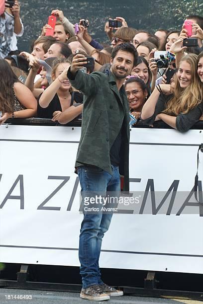 Spanish actor Hugo Silva arrives at the Maria Cristina Hotel during the 61th San Sebastian International Film Festival on September on September 21...