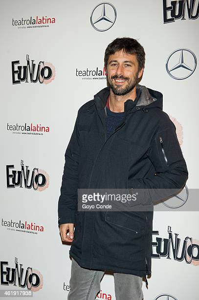 Spanish actor Hugo Silva attends the ' EL Eunuco' on January 21 2015 in Madrid Spain