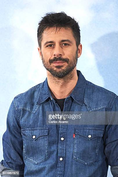 Spanish actor Hugo Silva attends the 'Tenemos Que Hablar' photocall at the Telefonica Flagship Store on February 24 2016 in Madrid Spain