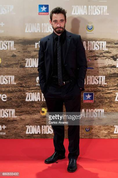 Spanish actor Ismael Martinez attends 'Zona Hostil' premiere at the Kinepolis cinema on March 9 2017 in Madrid Spain
