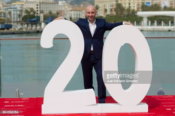 Spanish actor Jaime Ordonez attends 'El Bar' photocall at Muelle Uno on March 17 2017 in Malaga Spain