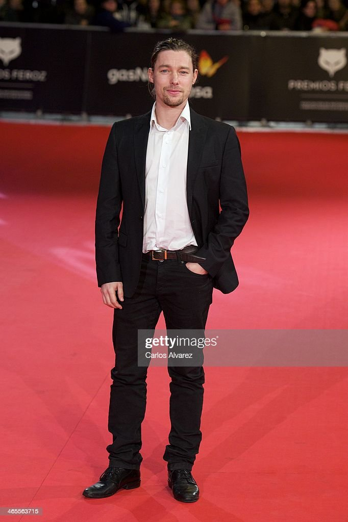 Spanish actor <a gi-track='captionPersonalityLinkClicked' href=/galleries/search?phrase=Jan+Cornet&family=editorial&specificpeople=7357355 ng-click='$event.stopPropagation()'>Jan Cornet</a> attends the 'Feroz' cinema awards 2014 at the Callao cinema on January 27, 2014 in Madrid, Spain.