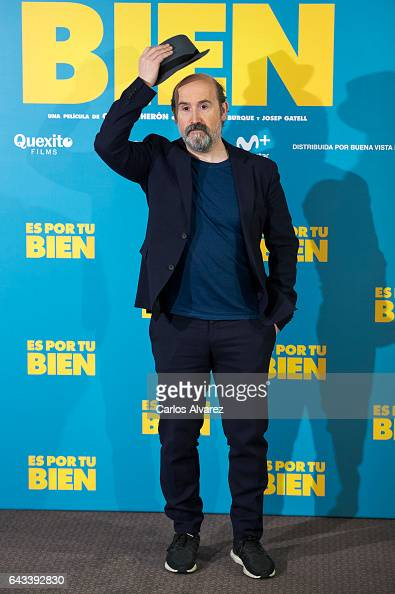 Spanish actor Javier Camara attends 'Es Por Tu Bien' photocall at Hesperia Hotel on February 21 2017 in Madrid Spain
