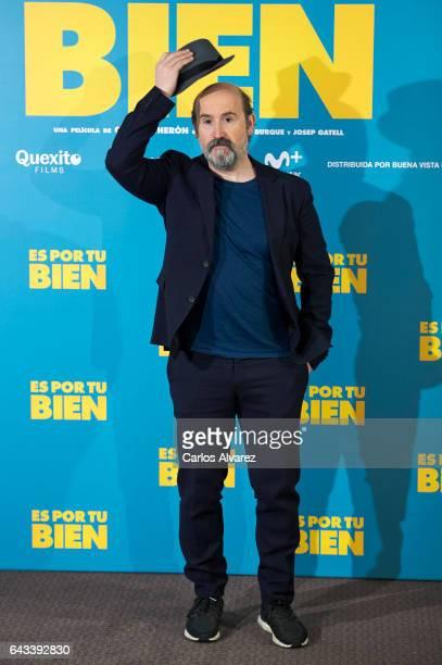 Spanish actor Javier Camara attends 'Es Por Tu Bien' photocall at Hesperia Hotel on February 21 2017 in Madrid Spain