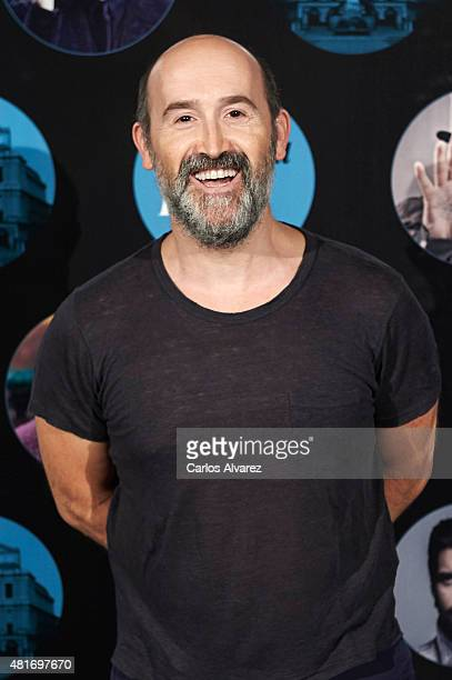 Spanish actor Javier Camara attends the Miguel Poveda concert at the Royal Theater on July 23 2015 in Madrid Spain