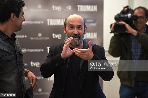 Spanish actor Javier Camara attends the 'Truman' photocall at the Palacio de Tepa Hotel on October 26 2015 in Madrid Spain