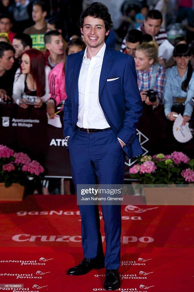 Spanish actor Javier Pereira attends 'Gala Premio Eloy de la Iglesia' during 16 Malaga Film Festival at Teatro Cervantes on April 25, 2013 in Malaga, Spain.