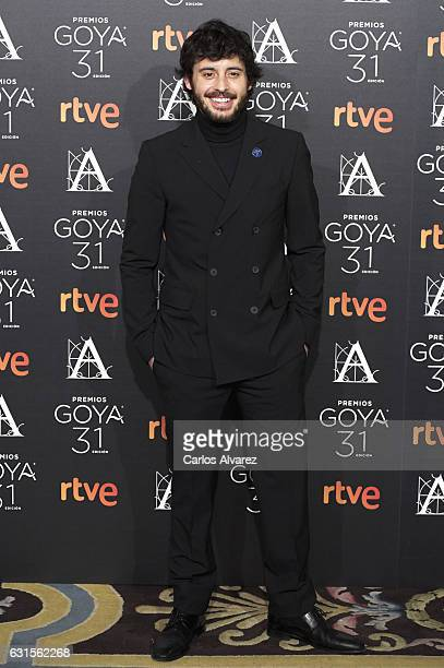 Spanish actor Javier Pereira attends the Goya cinema awards candidates 2016 cocktail at the Ritz Hotel on January 12 2017 in Madrid Spain