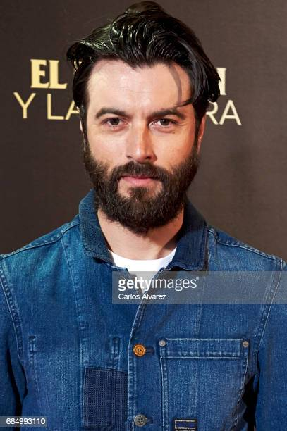 Spanish actor Javier Rey attends 'El Pelotari Y La Fallera' premiere at the Callao cinema on April 5 2017 in Madrid Spain