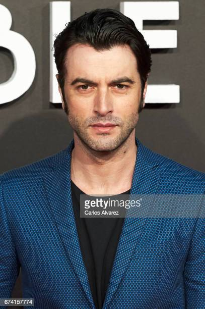 Spanish actor Javier Rey attends 'Las Chicas Del Cable' premiere at the Callao cinema on April 27 2017 in Madrid Spain