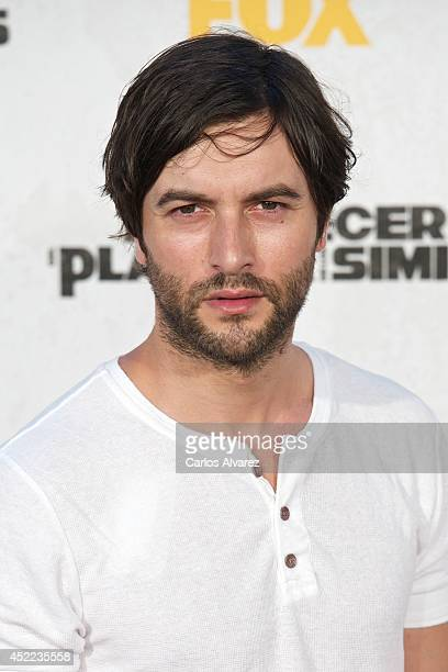 Spanish actor Javier Rey attends the 'Dawn of the Planet of the Apes' premiere at the Capitol cinema on July 16 2014 in Madrid Spain