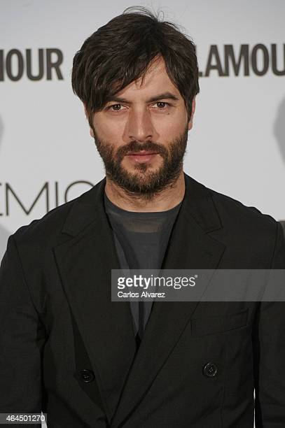 Spanish actor Javier Rey attends the 'Glamour Beauty' magazine awards at the Palace hotel on February 26 2015 in Madrid Spain