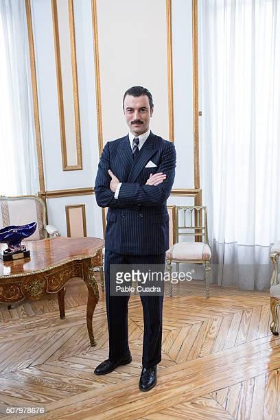 Spanish actor Javier Rey presents 'Lo Que Escondian Sus Ojos' on February 2 2016 in Madrid Spain