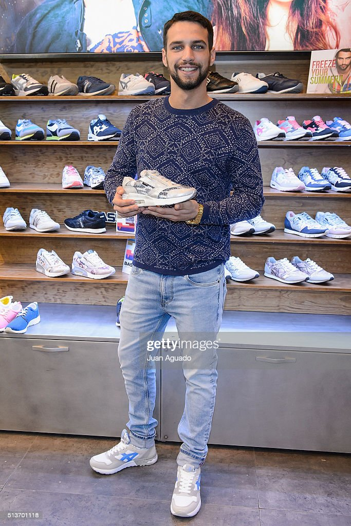 Spanish actor Jesus Castro presents 'Bass 3D' Shoes new collection at Ifema on March 4 2016 in Madrid Spain