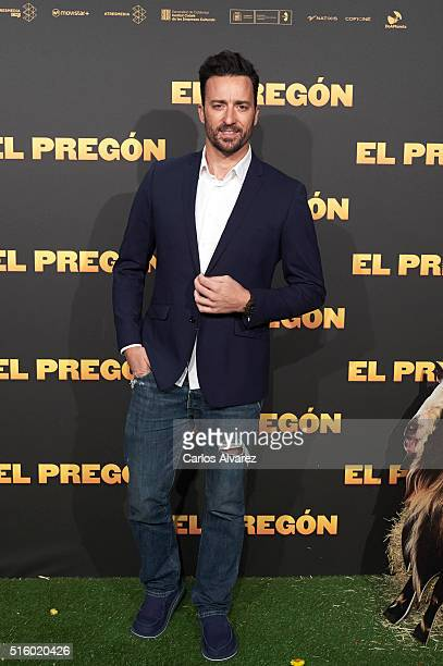 Spanish actor Jordi Pujol attends the 'El Pregon' premiere at the Capitol cinema on March 16 2016 in Madrid Spain