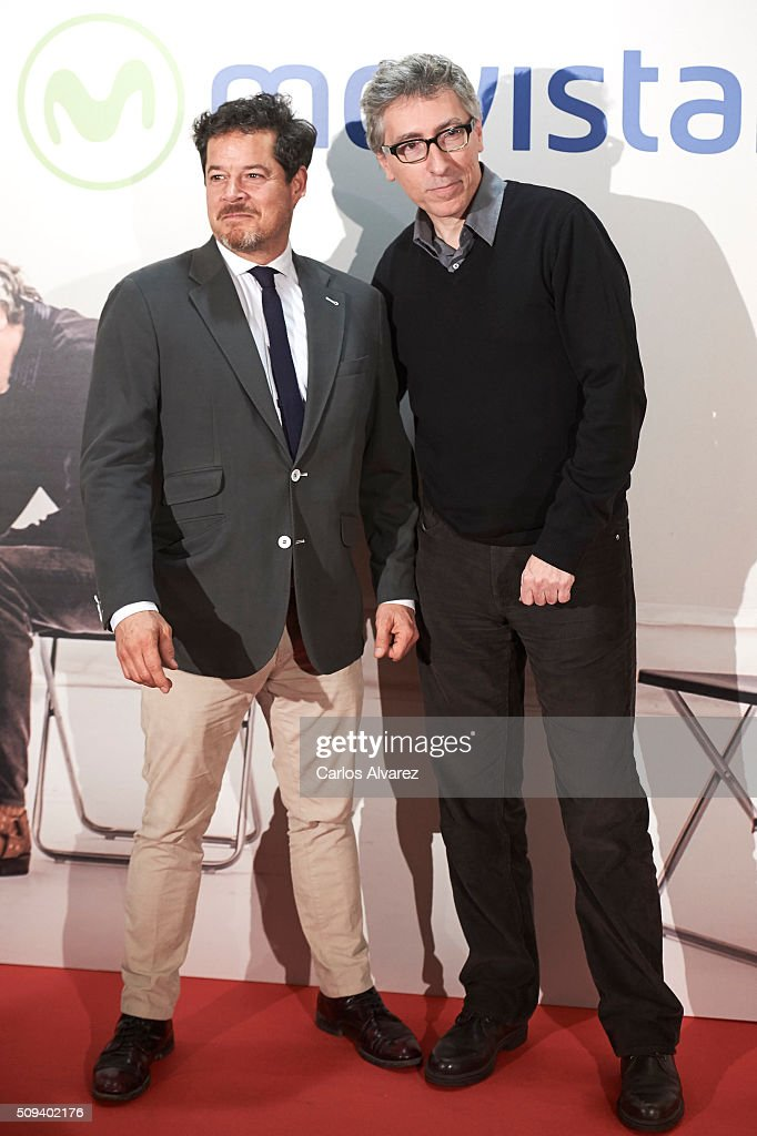 Spanish actor <a gi-track='captionPersonalityLinkClicked' href=/galleries/search?phrase=Jorge+Sanz&family=editorial&specificpeople=788755 ng-click='$event.stopPropagation()'>Jorge Sanz</a> (L) and director <a gi-track='captionPersonalityLinkClicked' href=/galleries/search?phrase=David+Trueba&family=editorial&specificpeople=2142227 ng-click='$event.stopPropagation()'>David Trueba</a> (R) attend the 'Que fue de <a gi-track='captionPersonalityLinkClicked' href=/galleries/search?phrase=Jorge+Sanz&family=editorial&specificpeople=788755 ng-click='$event.stopPropagation()'>Jorge Sanz</a>' premiere at the Proyecciones cinema on February 10, 2016 in Madrid, Spain.