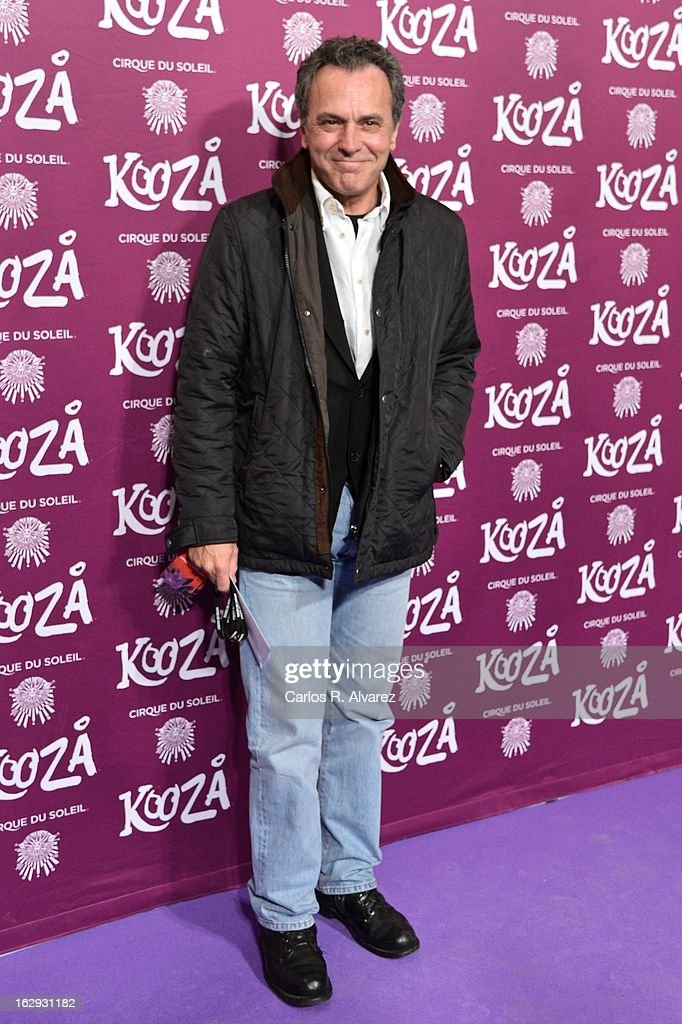 Spanish actor <a gi-track='captionPersonalityLinkClicked' href=/galleries/search?phrase=Jose+Coronado&family=editorial&specificpeople=3677731 ng-click='$event.stopPropagation()'>Jose Coronado</a> attends 'Cirque Du Soleil' Kooza 2013 premiere on March 1, 2013 in Madrid, Spain.
