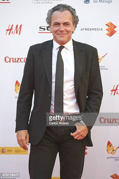 Spanish actor Jose Coronado attends the 18th Malaga Film Festival opening ceremony at the Cervantes Theater on April 17 2015 in Malaga Spain