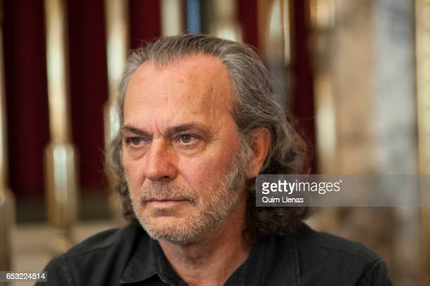 Spanish actor Jose Coronado poses for a portrait session after the press conference for the play 'Ushuaia' by Alberto Conejero at the 'Espanol...