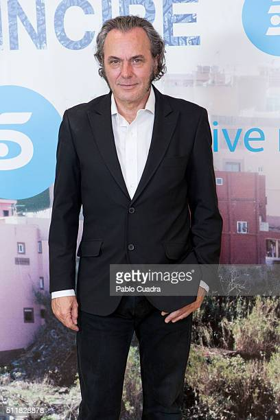 Spanish actor Jose Coronado presents 'El Principe' at Mediaset Studios on February 23 2016 in Madrid Spain