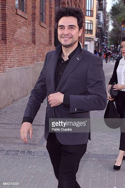 Spanish actor Jose Manuel Seda attends the premiere of El Profeta Loco at Galileo Theater on April 11 2014 in Madrid Spain