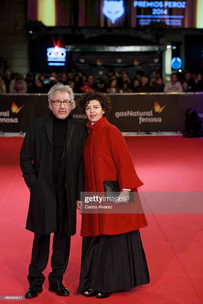 Spanish actor Jose Sacristan and Amparo Pascual attend the 'Feroz' cinema awards 2014 at the Callao cinema on January 27, 2014 in Madrid, Spain.
