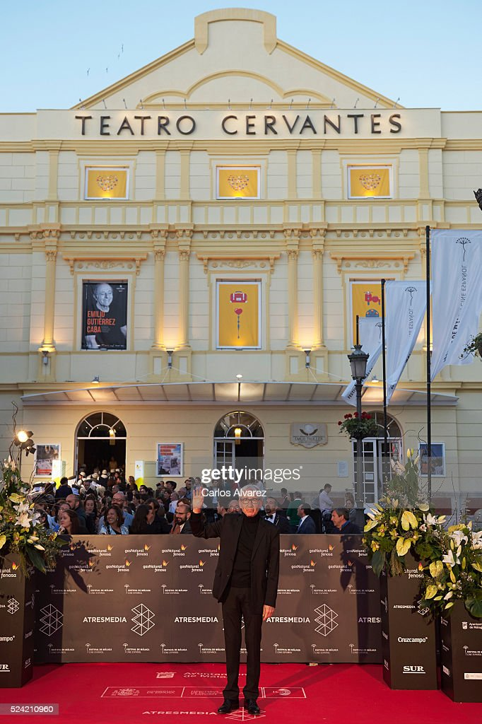 Spanish actor Jose Sacristan attends the 'Quatretondeta' premiere at the Cervantes Theater during the 19th Malaga Spanish Film Festival on April 25, 2016 in Malaga, Spain.