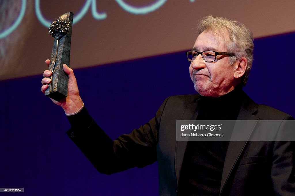 Spanish actor Jose Sacristan receives retrospective award 'Malaga Hoy' during the 17th Malaga Film Festival 2014 at Teatro Cervantes on March 28, 2014 in Malaga, Spain.