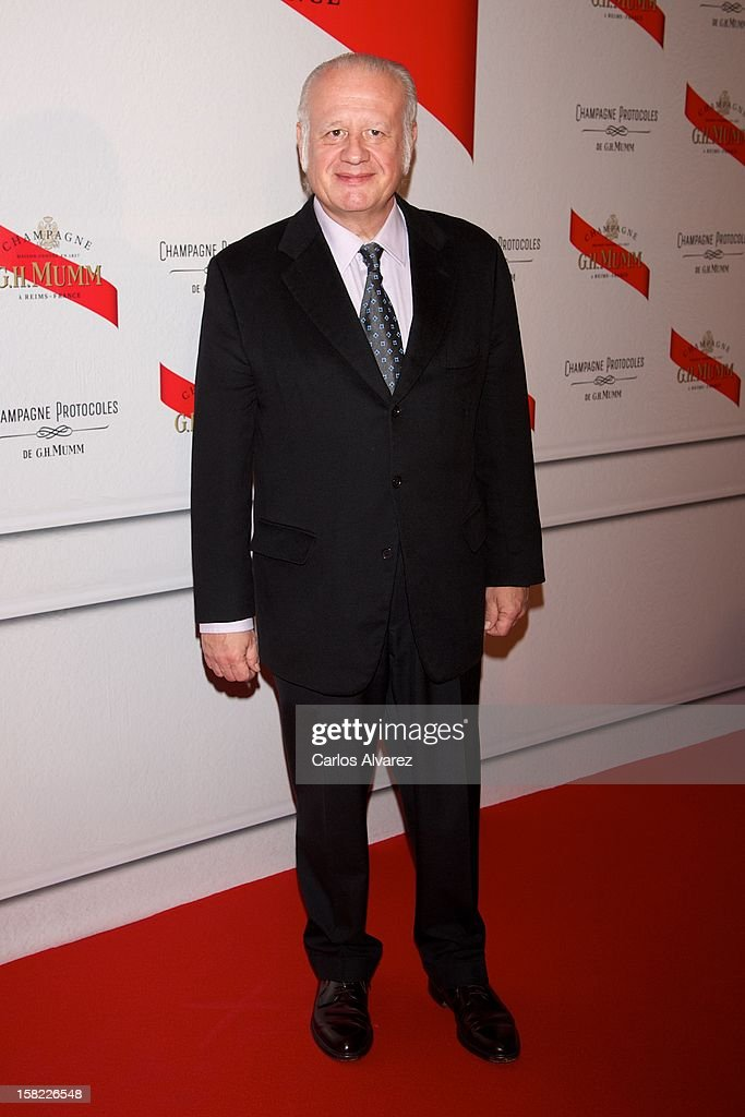 Spanish actor Juan Echanove attends the Maison Mumm inauguration at the Santo Mauro Hotel on December 11, 2012 in Madrid, Spain.