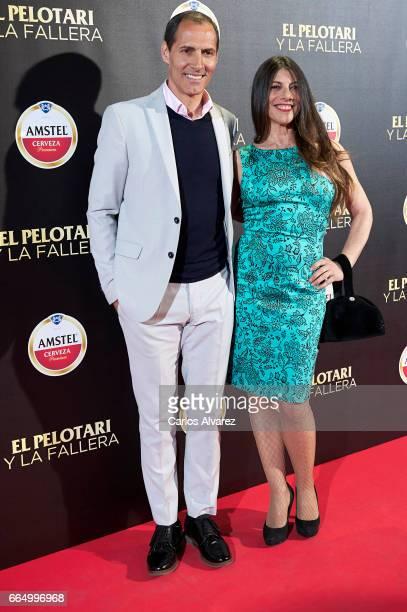 Spanish actor Manuel Bandera and Marisol Bandera attend 'El Pelotari Y La Fallera' premiere at the Callao cinema on April 5 2017 in Madrid Spain