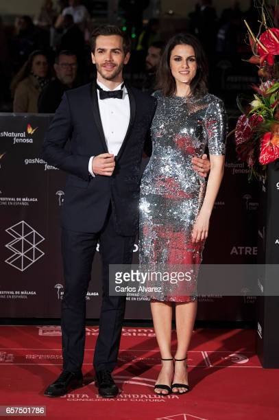 Spanish actor Marc Clotet and actress Melina Matthews attend the 'Pieles' premiere on day 8 of the 20th Malaga Film Festival at the Cervantes Teather...