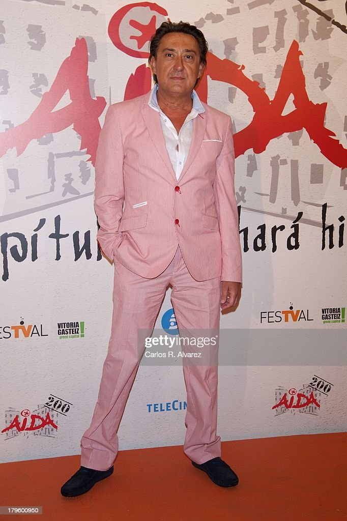 Spanish actor Mariano Pena attends the 'Aida' new season red carpet during the day four of 5th FesTVal Television Festival 2013 at the Villa Suso Palace on September 5, 2013 in Vitoria-Gasteiz, Spain.