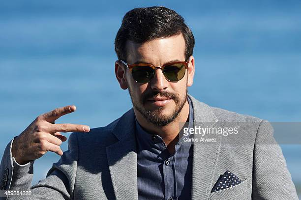 Spanish actor Mario Casas attends the 'Mi Gran Noche' photocall at the Kursaal Palace during the 63rd San Sebastian Film Festival on September 20...