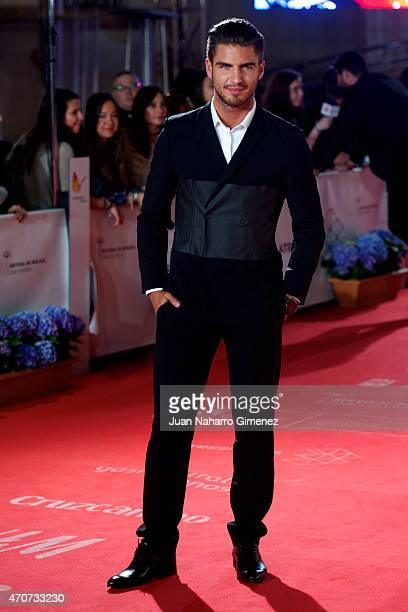 Spanish actor Maxi Iglesias attends the 'Sexo Facil Peliculas Tristes' premiere at the Cervantes Theater during the 18th Malaga Film Festival on...