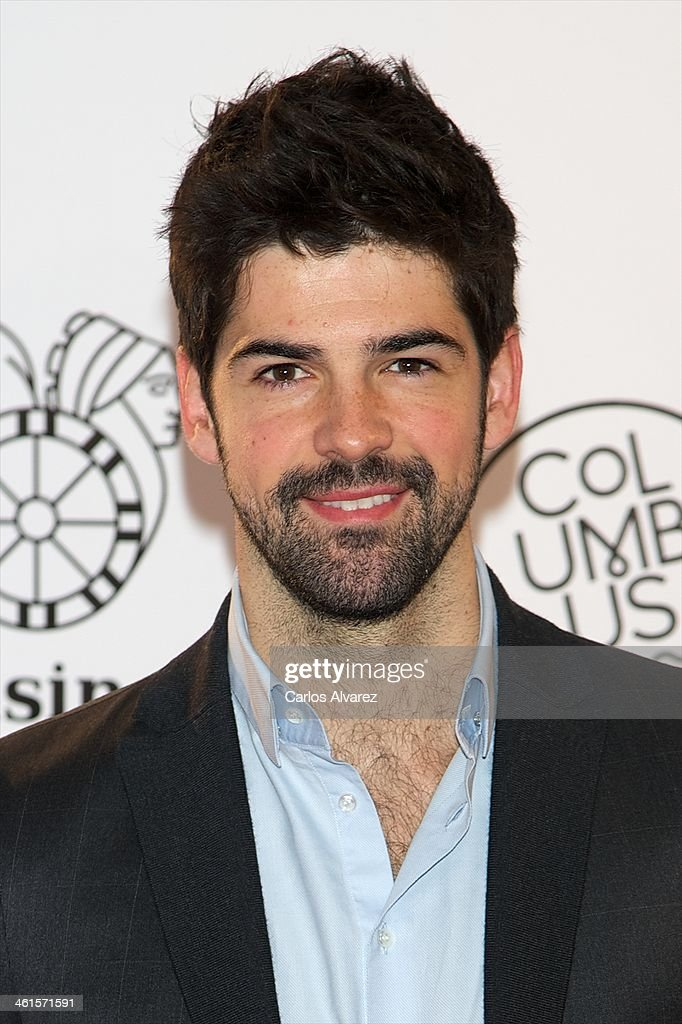 Spanish actor <a gi-track='captionPersonalityLinkClicked' href=/galleries/search?phrase=Miguel+Angel+Munoz&family=editorial&specificpeople=714734 ng-click='$event.stopPropagation()'>Miguel Angel Munoz</a> attends the Casino Gran Madrid Colon opening on January 9, 2014 in Madrid, Spain.