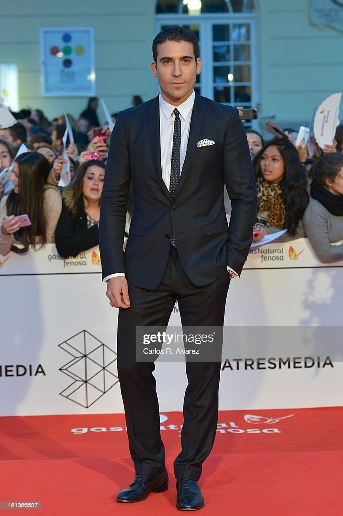 Spanish actor <a gi-track='captionPersonalityLinkClicked' href=/galleries/search?phrase=Miguel+Angel+Silvestre&family=editorial&specificpeople=4001600 ng-click='$event.stopPropagation()'>Miguel Angel Silvestre</a> attends the 17th Malaga Film Festival 2014 closing ceremony at the Cervantes Theater on March 29, 2014 in Malaga, Spain.