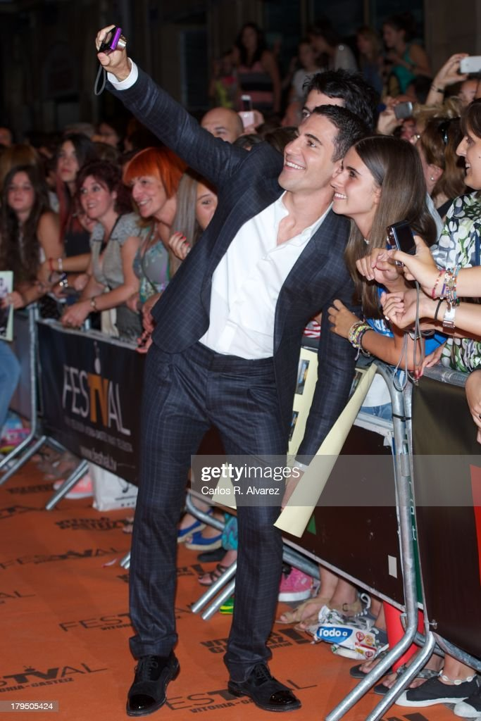 Spanish actor Miguel Angel Silvestre attends the 'Galerias Velvet' new season red carpet during the day three of 5th FesTVal Television Festival 2013 at the Principal Theater on September 4, 2013 in Vitoria-Gasteiz, Spain.