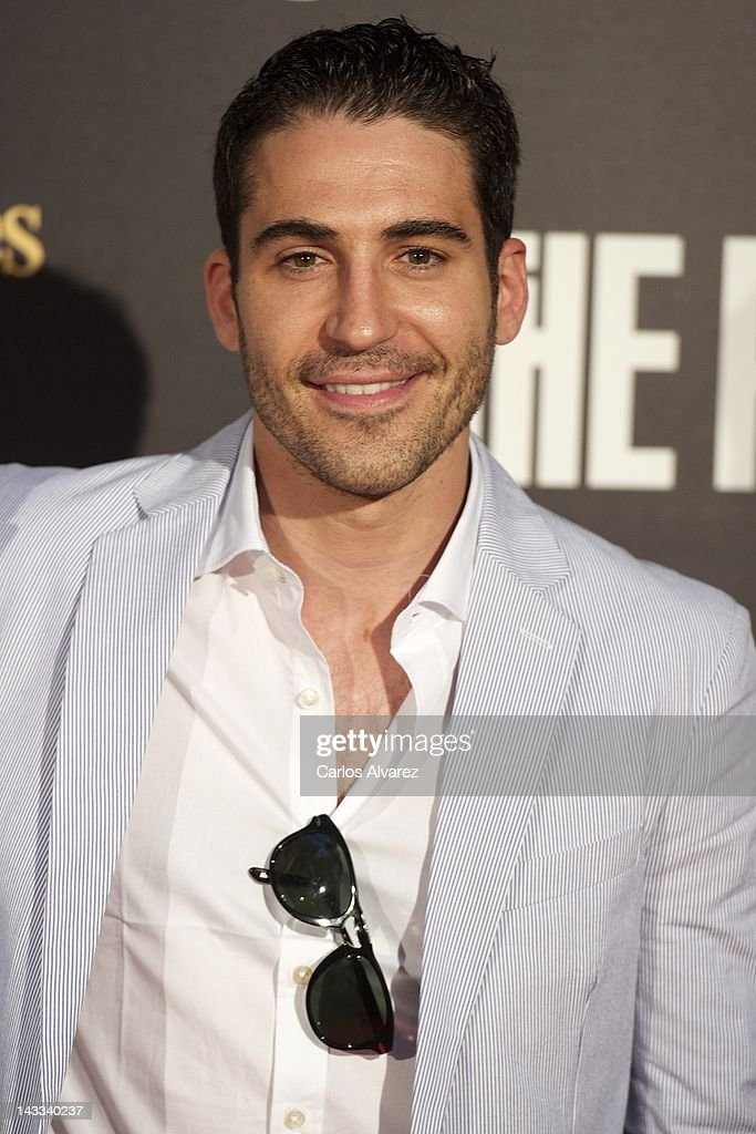 Spanish actor <a gi-track='captionPersonalityLinkClicked' href=/galleries/search?phrase=Miguel+Angel+Silvestre&family=editorial&specificpeople=4001600 ng-click='$event.stopPropagation()'>Miguel Angel Silvestre</a> attends 'The Pelayos' premiere at Fortuny Club on April 24, 2012 in Madrid, Spain.
