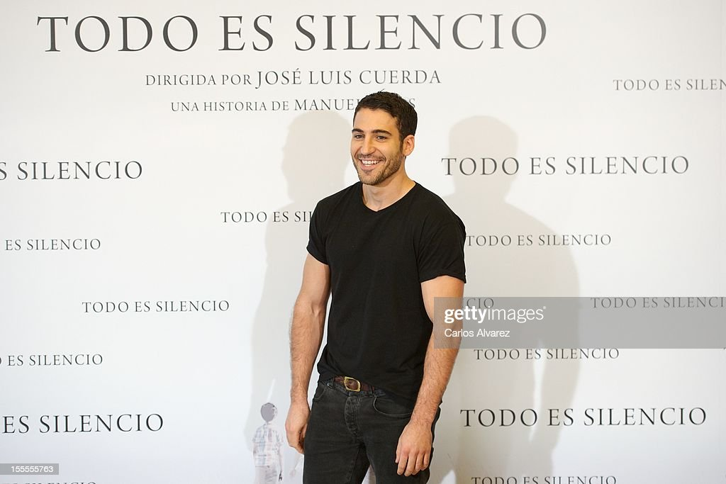 Spanish actor Miguel Angel Silvestre attends the 'Todo es Silencio' photocall at the Palafox cinema on November 5, 2012 in Madrid, Spain.