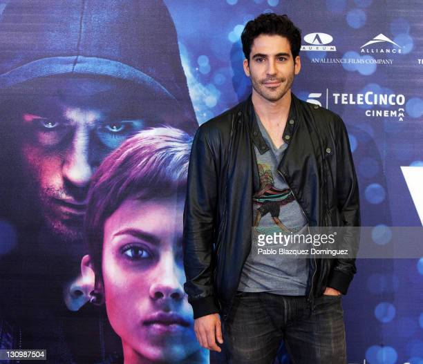 Spanish actor Miguel Angel Silvestre attends 'Verbo' photocall at Palafox Cinema on October 31 2011 in Madrid Spain