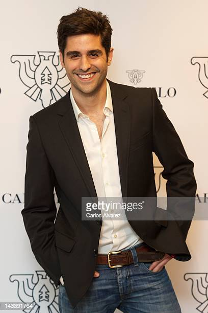 Spanish actor Miguel Diosdado attends 'Caramelo' new collection presentation on April 25 2012 in Madrid Spain