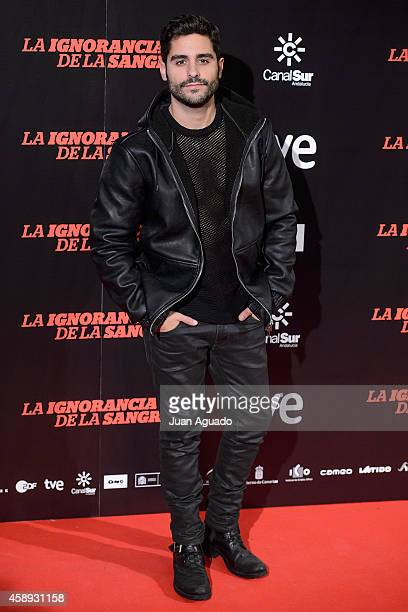 Spanish actor Miguel Diosdado attends 'La Ignorancia de la Sangre' Madrid Premiere at the Capitol Cinema on November 13 2014 in Madrid Spain