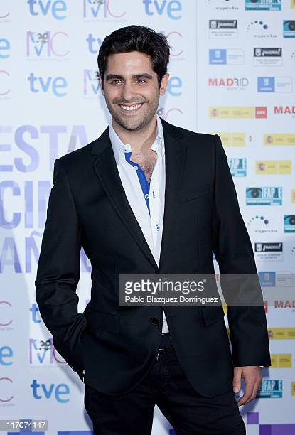 Spanish actor Miguel Diosdado attends 'Spanish Night Cinema' party at Cecilio Rodriguez Gardens in Retiro Park on June 20 2011 in Madrid Spain