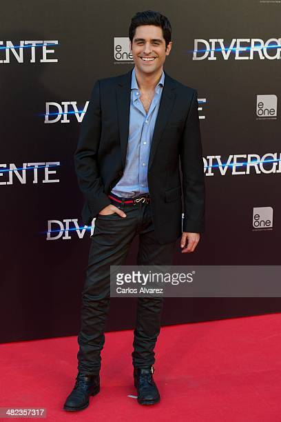 Spanish actor Miguel Diosdado attends the 'Divergent' premiere at the Callao cinema on April 3 2014 in Madrid Spain
